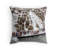 National Park Plitvice Lakes - Winter Throw Pillow