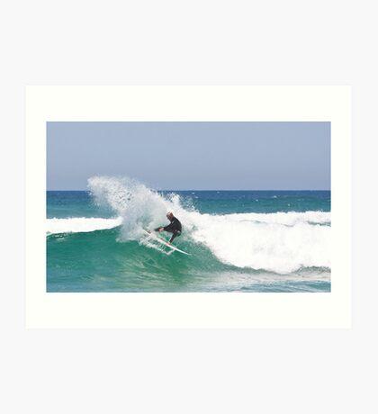 Moving Water- Surfing Boomerang Beach Australia Art Print