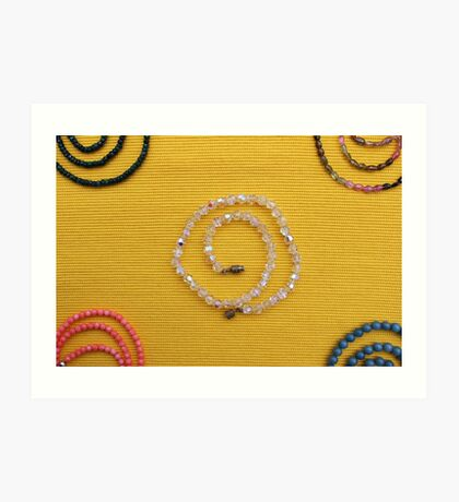 Multi colored beads  Art Print
