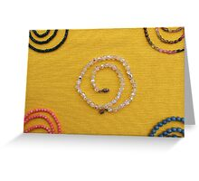 Multi colored beads  Greeting Card