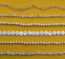 Assortment of white necklaces  by VikaL