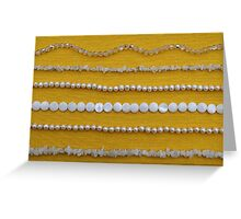 Assortment of white necklaces  Greeting Card