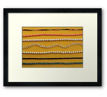 Multi colored beads Framed Print