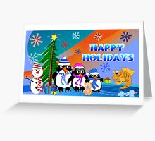 A Penguins Christmas Greeting Card