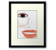 Face © Vicki Ferrari  Framed Print