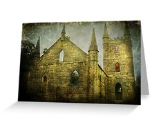Old Church Facade Greeting Card