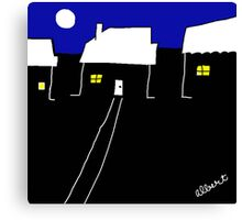 A nice night in suburbia Canvas Print