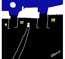 A nice night in suburbia Photographic Print