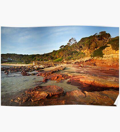 Bar Beach at Merimbula Poster