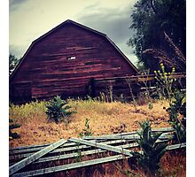 Distressed Red Barn  Photographic Print