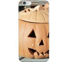 Halloween pumpkin face  iPhone Case/Skin