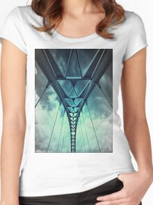 Humber River Bridge Blue Women's Fitted Scoop T-Shirt