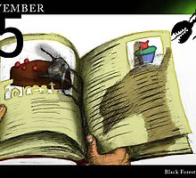 November 5th - Black Forest Cake by 365 Notepads -  School of Faces