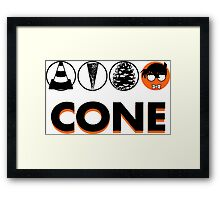 Cone: Orange Juice Flavour Framed Print