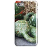 Green Stripe Pumpkins iPhone Case/Skin