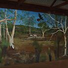 Fairbridge Village Mural-Part of Bush scene by Jen Ruyter