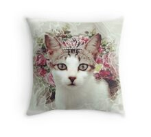 Princess Cat Throw Pillow