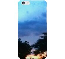 Countryside sunset iPhone Case/Skin