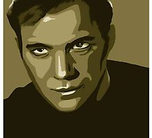 Captain Kirk stylized in gold (Star Trek) by shannon-rose