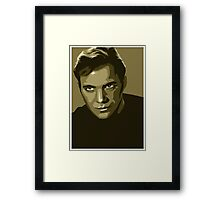 Captain Kirk stylized in gold (Star Trek) Framed Print