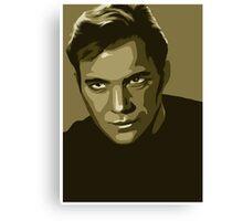 Captain Kirk stylized in gold (Star Trek) Canvas Print