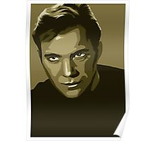 Captain Kirk stylized in gold (Star Trek) Poster