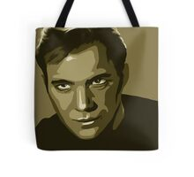 Captain Kirk stylized in gold (Star Trek) Tote Bag