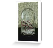 Snow Globe Bloosom trees Greeting Card