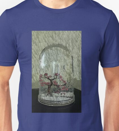 Snow Globe Bloosom trees Unisex T-Shirt