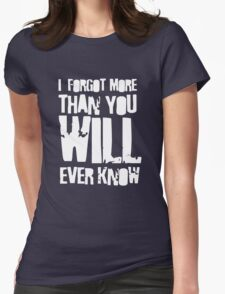 i - Forgot Womens Fitted T-Shirt