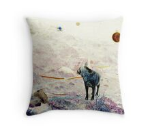 A boy, an orb and his dog Throw Pillow