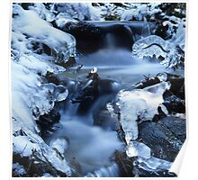 Blue waterfall in  winter 6 Poster