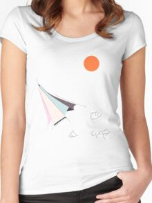 Paper Spaceship 1 Women's Fitted Scoop T-Shirt