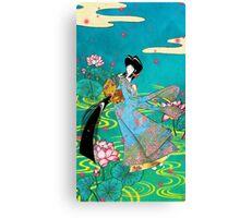 Japanese Woman - Lotus Canvas Print