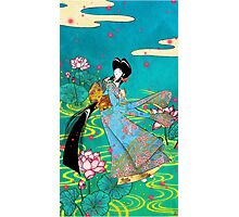 Japanese Woman - Lotus Photographic Print