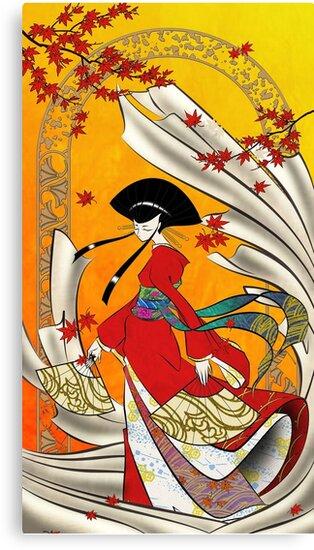 Japanese Woman - Warm Wind by Saing Louis
