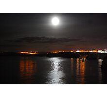 A nightime cornish coast Photographic Print