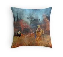 Firefighter - Our Heroes Throw Pillow