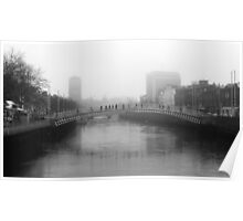 Foggy Dublin Poster