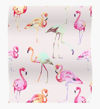 Flamingo Formation #redbubble Poster