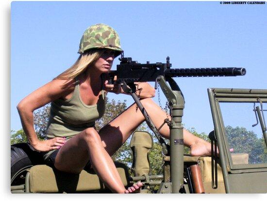 Christy Taking Aim by LibertyCalendar