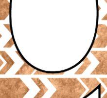 Letter Series - q (arrows) Sticker