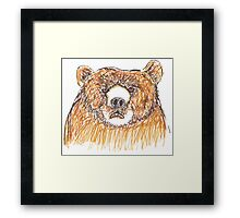 Grumpy Old Bear Framed Print