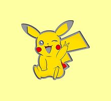 pika selfie - yellow by poketees