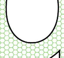 Letter Series - q (hex grid) Sticker