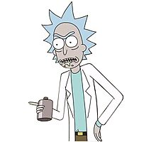 Rick and Morty-- Rick Drinking Photographic Print