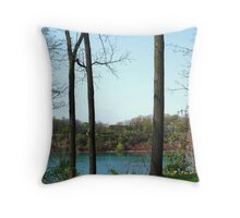The Niagara River At Lewiston, NY Throw Pillow