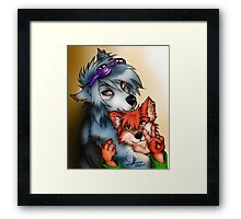 Furry Lovers Framed Print