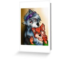 Furry Lovers Greeting Card