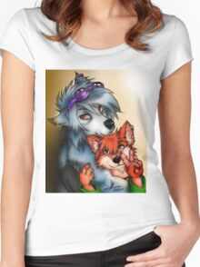 Furry Lovers Women's Fitted Scoop T-Shirt